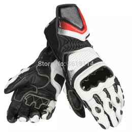 $enCountryForm.capitalKeyWord Australia - Motorcycle Off-road Racing Dain Carbon D1 Gloves Long Leather Men's Gloves Black White Red