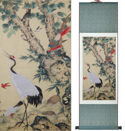 $enCountryForm.capitalKeyWord Australia - Wholesale Price Traditional Birds And Flower Painting Spring Ink Wash Painting Silk Scroll Birds And Flower Painting2019061509