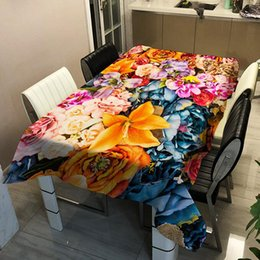 square table cloths NZ - High Quality Printing Table Cloth Polyester Square Waterproof Oilproof Table Cover Wedding Tablecloth Home Decor