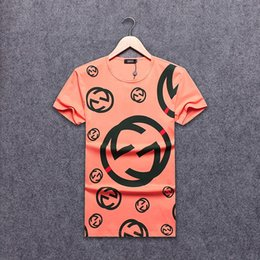 Full Color Printed T Shirts NZ - 2019 new hot men and women models summer three-color full-width letters striped pattern printing temperament couple short-sleeved T-shirt