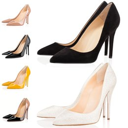 $enCountryForm.capitalKeyWord UK - Women 2019 Shoes Red Bottoms High Heels Sexy Pointed Toe Nude Red Sole 8cm 10cm 12cm Leather Pointed Toes Pumps Dress Wedding Shoes