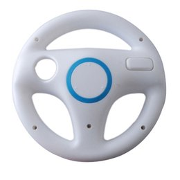 Racing games steeRing wheels online shopping - New Style Plastic Mulit colors MarioKart Racing Wheel Games Steering Wheel for Wii Remote Game Controller Console