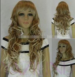 $enCountryForm.capitalKeyWord Australia - WIG LL<<< 003389 new womens blonde grey curly wavy thin full synthetic fashion Cosplay WIG