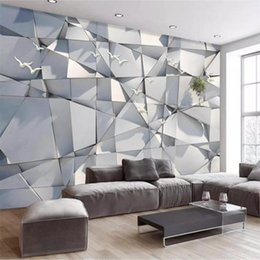 3d art paper Australia - papel de parede Custom Wallpaper 3d Photo Mural Abstract Creative Marble Leaf Art Pattern living room TV Background Wall paper