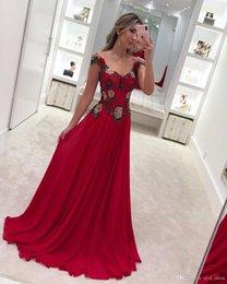 $enCountryForm.capitalKeyWord Australia - Stylish Appliqued Plus Size A Line Prom Dresses Evening Gowns Floor Length Chiffon Formal Dress robes de mariée