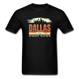Cotton City T Shirts Australia - T Shirt Dallas City T-shirt Old School Tshirts Men Clothes Short Sleeve O Neck Cotton Tops Plus Size Tees Retro Vintage Style