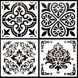 $enCountryForm.capitalKeyWord Australia - DIY Painting Craft 15*15cm Vintage Design Stencil Template For Tile Floor Furniture Painting Decorative Embossing Paper Cards