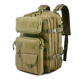 molle packs UK - Tactical Backpack Large Army Assault Pack Waterproof Molle Camouflage Bag Outdoor Travel Camping Hunting Rucksacks