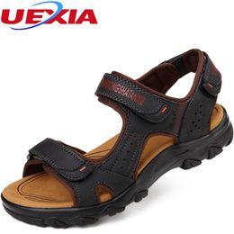 $enCountryForm.capitalKeyWord NZ - High Quality Men Sandals Leather Zapatos Summer Casual Shoes Breathable Handmade Classic Outdoor Beach Retro Sewing Sandalias