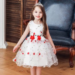 $enCountryForm.capitalKeyWord Australia - Flower Dress for Girl Wedding Children Communion Kids Dresses for Teenage Girls Ceremony Tutu Baby Clothing 4-10 Years Vestidos