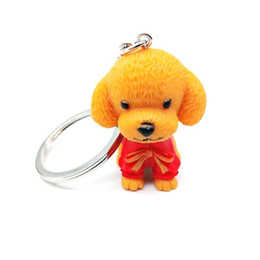 Puppy Pendants Australia - New Lovely Poodle Puppy Key Chain Women Men Buckle Pendant Automobile Originality Ring Accessories Small Gift Keychain Keyring