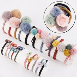 $enCountryForm.capitalKeyWord UK - 10PCS BOX Multicolor Fluff Ball Hair Accessories Rubber Band Gum for Elastic Hair Bands Scrunchy for Women Girls Kids Children