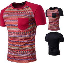 T Shirt Digital Printing Sport NZ - Fashion-Men's digital printing Raglan T-shirt summer street wear short sleeved sport half sleeve shirt