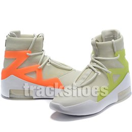 Wholesale Fear Of God Mens Athletic Shoes High Quality Fashion Designer Green Orange Pulse Yellow s Trainer Light Bone Black Sneakers Wrestling Shoes