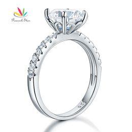$enCountryForm.capitalKeyWord UK - Peacock Star 925 Sterling Silver Bridal Anniversary Engagement Ring 2 Carat Jewelry CFR8212