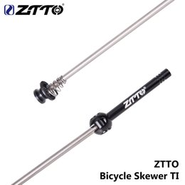$enCountryForm.capitalKeyWord Australia - ZTTO 1 Pair Bicycle QR Ti Skewers Ultralight 9MM 5MM Quick Release Skewers 100 135 hub Reliable Axle for MTB Road Bike