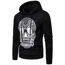 male designer clothes UK - Mens Skull Designer Hoodies Men Male Hommes Sweatshirts Casual Tops Autumn Spring Clothes