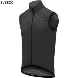 vest cycling NZ - 2020 black pro cycling Vests lightweight windproof Cycling gilet For Men and women Road Bike Bicycle wind vest Mesh at back