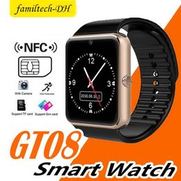 $enCountryForm.capitalKeyWord Australia - Smart Watch GT08 Clock With Sim Card Slot Push Message Bluetooth Connectivity Android Phone Better Than DZ09 US Smart watches