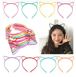 $enCountryForm.capitalKeyWord Australia - kids big Girl Fashion cute Cat Ear Headband Girl Cheerleader Head Stick Hair Accessories For Party Supplies