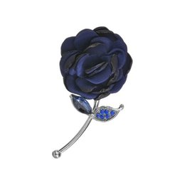 $enCountryForm.capitalKeyWord UK - Crystal Simulated Red Fabric Flower Brooches Limited Women Elegant Plant 3D Rose Flower Weddings Banquet Brooch b122