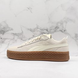 Wholesale The Women shoes Smash Platform SD Wheat black Green Casual shoes Fenty Cleated Creeper Professional shoes Outdoor Trainer PM Suede Creepers