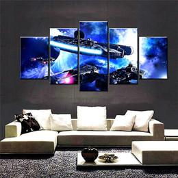 $enCountryForm.capitalKeyWord Australia - Millennium Falcon Republic Cruiser,5 Pieces The Latest Most Popular High-definition Canvas Printed Home Decorative Art  Unframed   Framed