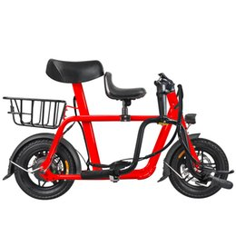 bicycle scooters Australia - new Parent child electric bike mini folding electric bicycle adult outdoor e bike 250w 36v battery lithium e scooter city ebike