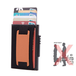 Coin Purses & Holders New Men Double Aluminum Cow Leather Travel Card Wallet Rfid Credit Card Holder Pu Leather Unisex Security Metal Smart Purse 486 Convenience Goods
