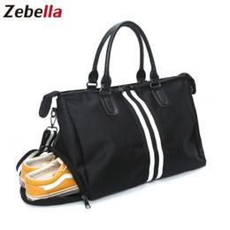 Zebella Men Women Travel Bags Nylon Large Capacity Luggage Bags Black Weekend  Duffel Tour Bag Business Women Handbag Bolsa Viaje 57ab275b11a94