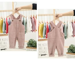 $enCountryForm.capitalKeyWord Australia - Stylish Toddler Kids Boys Jumpsuits Overalls Blet Rompers Cotton Front Buttons Pocket Designs Spring Autumn Children Girls Boys Suspender