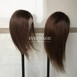 $enCountryForm.capitalKeyWord Australia - Noble Soft Brown Full Lace Human Hair Wigs Silky Straight Brazilian Virgin Human Hair Lace Front wig With Baby Hair Glueless