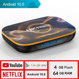 google smart tv box rom Canada - 2020 New Model TV Box Android 10 HK1R1 Netflix Youtube HDR 4K Google Voice Assistant Smart RAM 4G ROM 128G
