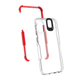 Wholesale Clear Color Case UK - Color Bumper Clear Back Dual Layer Skin Hybrid PC TPU Slim Fit Hard Phone Cover with Drop ProtectionCase for Samsung Galaxy A10e