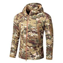 Soft Skin tactical jacket online shopping - Men Lurker Shark V7 Skin Soft Shell Tactical Jacket Waterproof Windproof Windbreaker Camouflage Camo Army Rain Coat