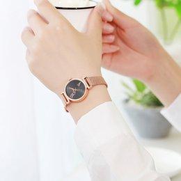 geneva mesh watch 2019 - women's watches reloj mujer Women Alloy Mesh Belt Casual Watch Geneva Simple Mesh Belt Watch zegarki damskie cheap