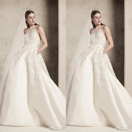 custom made elie saab dresses Australia - Elie Saab 2020 Wedding Dresses Custom Made Lace Appliques Beach Bridal Gowns Satin Luxury A-Line Wedding Dress Vestido De Novia