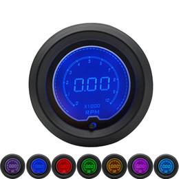 Lcd Digital Tachometer NZ - 52mm LCD Digital 7 Color Display Tachometer RPM Gauge Fit For 4 6 8 cylinders