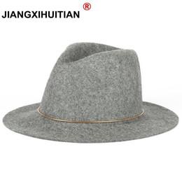 4598d571ee721 2017 New feather Hats For Women Soft Vintage Wide Brim 100%Wool Felt Bowler Fedora  Hat Floppy Cloche Women's Large Hat Cap