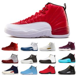 China Top 12 Mens Basketball Shoes Designer 12s men Gym red playoffs taxi Flu Game the master Dark grey Bordeaux Sport Trainer Sneaker Shoes supplier top dark suppliers