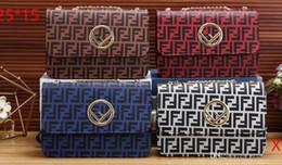 F Brand Bags Australia - 2019 Satchel Bag Designer Brand Flap Shoulder Bags Women F Magnetic Clasp Crossbody Bag FF Pattern PU Leather Strap Purse