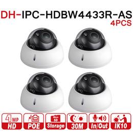 $enCountryForm.capitalKeyWord Australia - DH Dome Camera IPC-HDBW4433R-AS 4Pcs lot 4MP IP Camera Support Audio And Alarm TF Card PoE For NVR CCTV System IK10 IP67