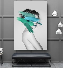 Abstract Modern Figure Australia - High Definition Canvas Simple Modern Abstract Art Beauty Figure Oil Painting Point Decoration Fresco Home Decoration 16x24inch