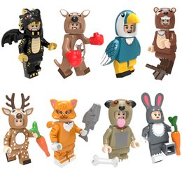 $enCountryForm.capitalKeyWord Australia - Animal Dog Pug Otter Sika Deer Black Dragon Kangaroo Parrot Bird Rabbit Cat Mini Toy Action Figure Building Blocks Brick For Children