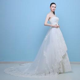 $enCountryForm.capitalKeyWord NZ - New arrival elegant wedding dress Vestido de Festa dress appliques long style crystal strapless lace party dresses