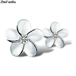 Unique Gifts For Ladies Australia - 1pair Charming Jewelry Accessories Flower Shaped Earrings For Women Unique Design For Woman Lady Party Gifts