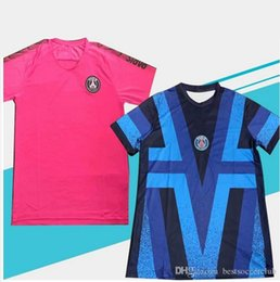 $enCountryForm.capitalKeyWord Australia - New Traning Soccer Jersey Pink Blue 19 20 Soccer Training Shirt Mens Short sleeve Soccer Shirt Football Uniform