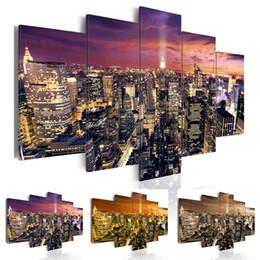 York Canvas Prints Australia - ( No Frame ) New York Canvas Print Modern City Skyline Art Painting Home Decoration, Choose Color & Size