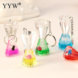 YYW New Deign Moving Liquid Fish Animal Key Mini Car Keychain For Man And Women Creative Delicate Birthday Gift Random Delivery