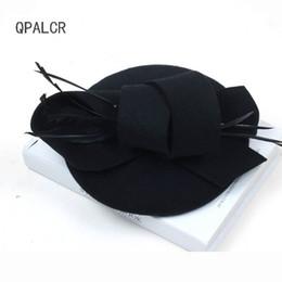 6c62ed35 QPALCR Winter Fedoras Stewardess Pillbox Hats Vintage Wool Felt Women Hat  Veil Wedding Party Hats